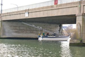 Going under Northam Bridge