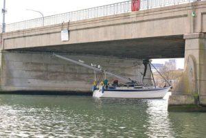 Going under Northam Bridge