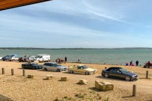 190721 a: cars in Lepe car park